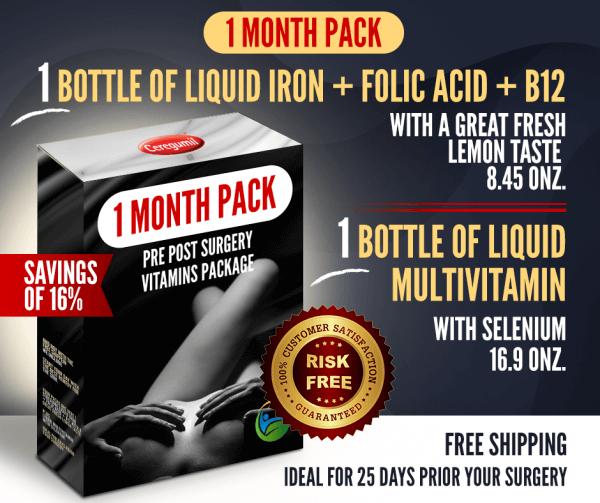 Liquid Iron & Multivitamin 1 month combo-pack