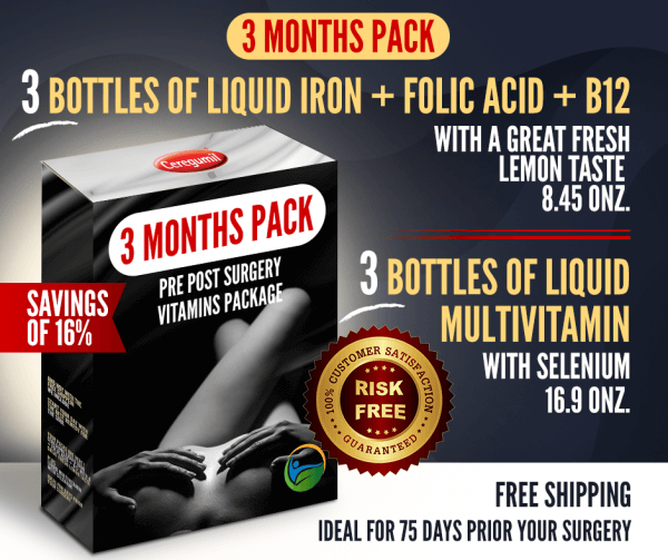 Liquid Iron & Multivitamin 3 months combo-pack