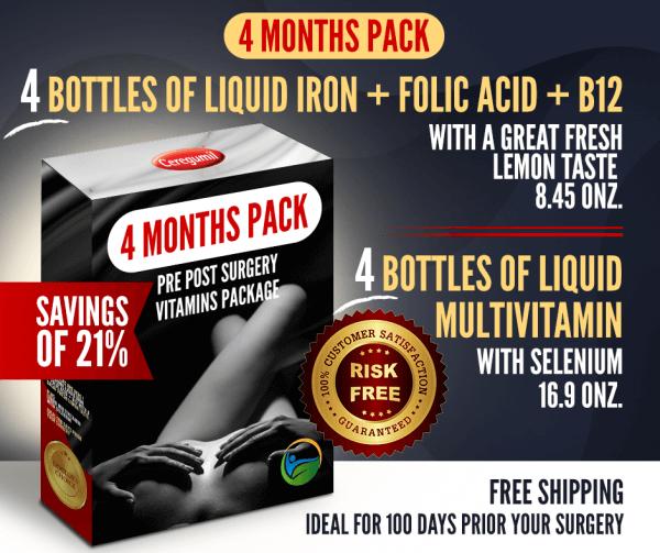 Liquid Iron & Multivitamin 4 months combo-pack